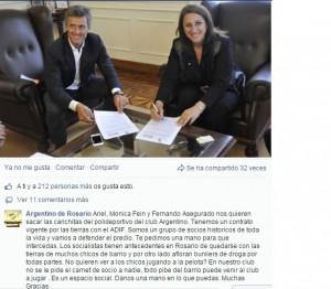 Monica Fein viene por el club argentino